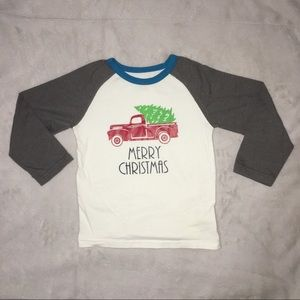 Little Red truck Christmas tree holiday T-shirt